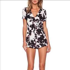 Oh My Love Floral Black & White Playsuit